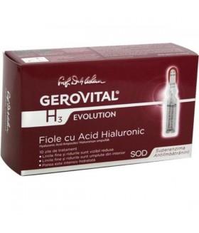 GEROVITAL H3 Ev.Fiole cu acid hialuronic